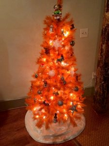 Our Orange Dog-Themed Christmas Tree | Spring Forth Dog Academy