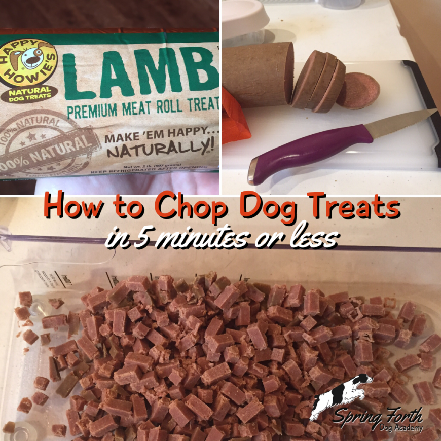 How to Chop Dog Treats in 5 Minutes or Less | spend less time cutting treats and more time training your dog!